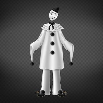 Pierrot aislado en el fondo transparente.