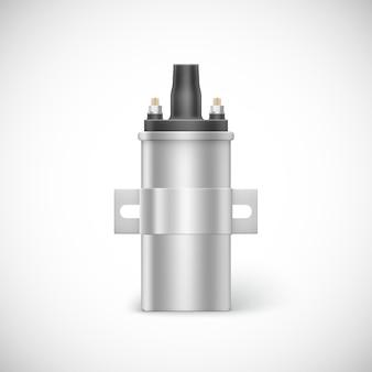 Pieza de coche de bobina de encendido. ilustración aislada sobre fondo blanco