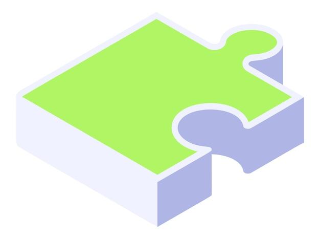 Pieza de rompecabezas isométrica