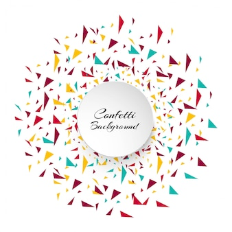 Piezas de confeti colorido abstracto. fondo de vacaciones