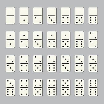 Piezas de dominó completas