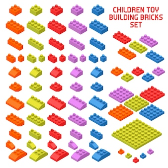 Piezas isométricas de constructor de juguetes