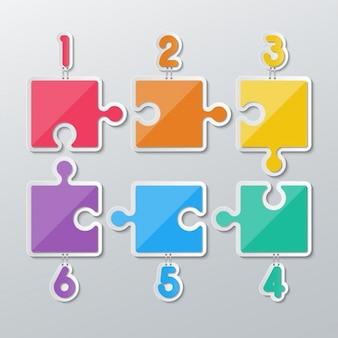 Piezas de puzzle de colores