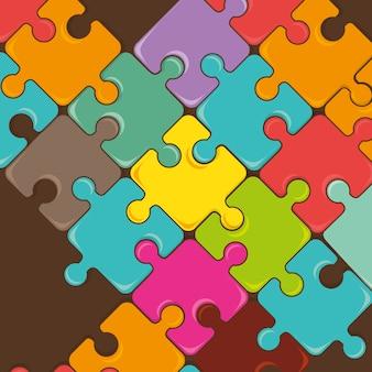 Piezas de puzzle trabajo en equipo