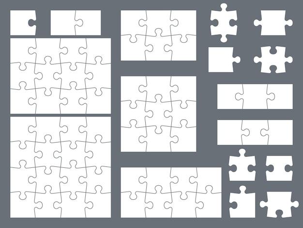 Piezas de rompecabezas para ilustración de juegos creativos