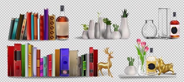 Pila de libros de colores con icono de color de estantería de marcadores para el diseño de sitios web