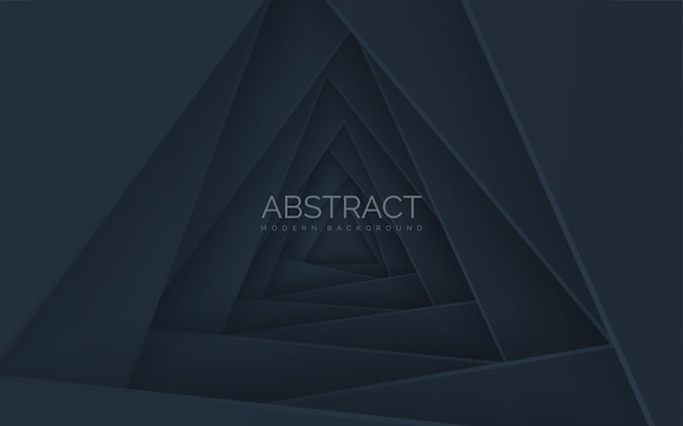 Pila de triángulo abstracto con efecto de sombra.