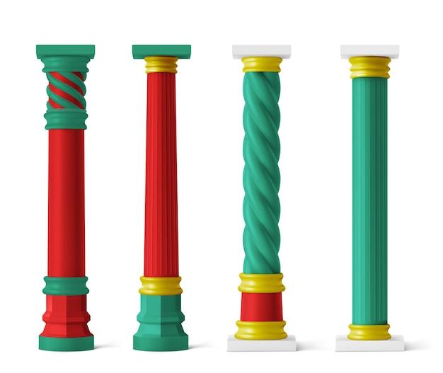 Pilares chinos para pagoda y cenador.