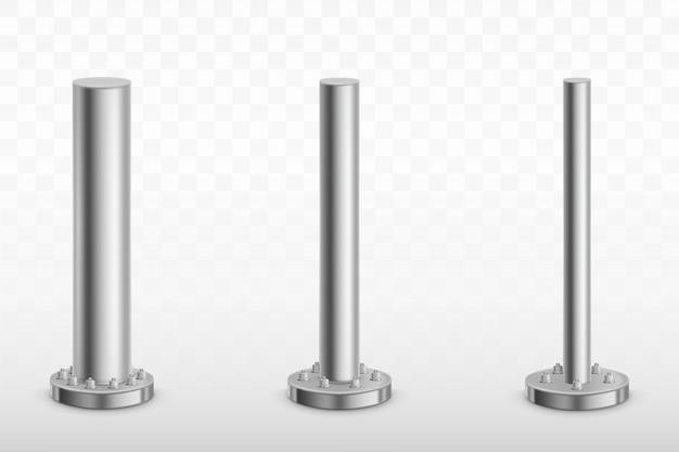 Pilares de poste de metal, tubos de acero zapatas de cilindro