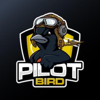 Piloto de pájaro negro