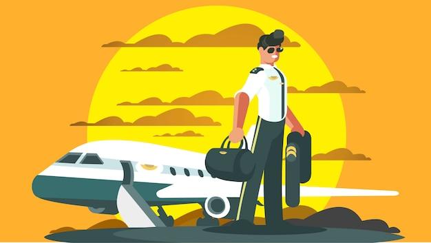 Pilotos y aterrizajes de aviones