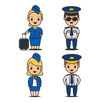 Pilotos y azafatas