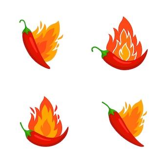 Pimientos picantes quemados.