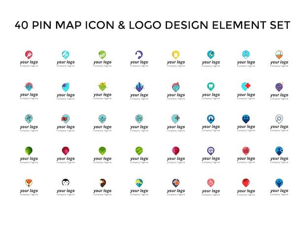 Mapa Plano Con Pin Icono De Puntero De La: Localizador Señalando En El Mapa