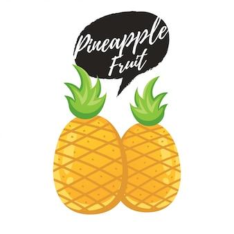 Piña tropical dulce verano fruta