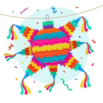 Piñata posada plana