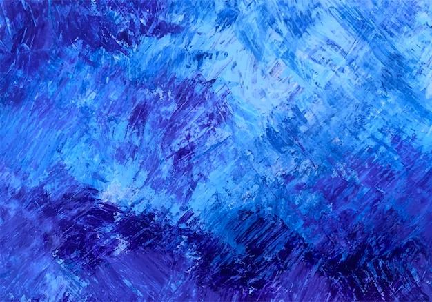 Pincel abstracto textura azul