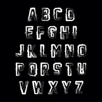 Pincel abstracto vector alfabeto