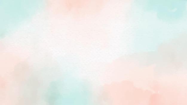 Pincel acuarela verde y naranja pastel sobre fondo de textura de papel blanco