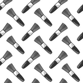 Pincel de maquillaje de patrones sin fisuras