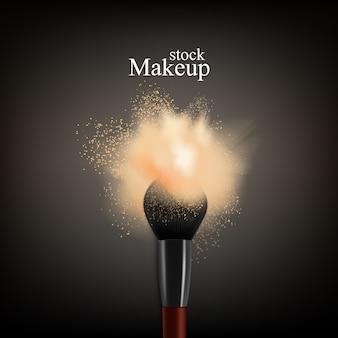 Pincel de maquillaje en polvo