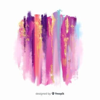 Pinceladas de acuarela con purpurina