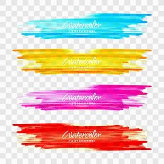 Pinceladas de colores de acuarela coloridas