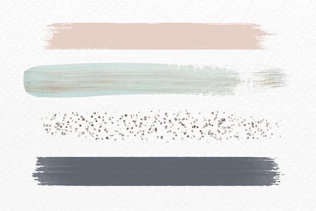 Pinceladas de tonos tierra