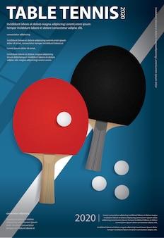 Pingpong poster template