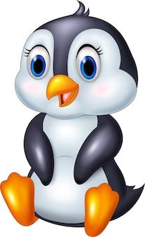 Pingüino animal de dibujos animados lindo