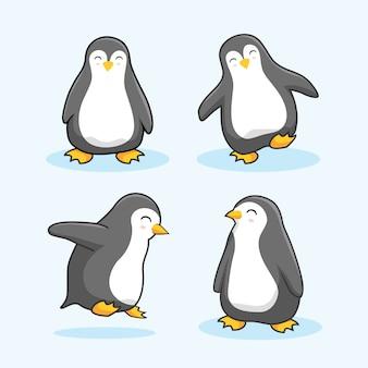 Pingüino de dibujos animados animales lindos