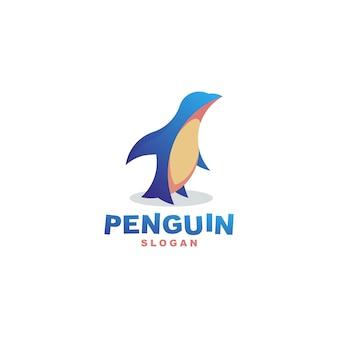 Pingüino moderno logo premium