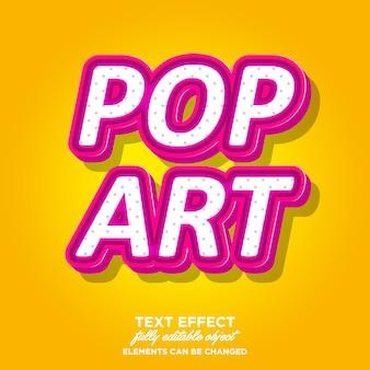 Pinky pop art estilo de texto 3d