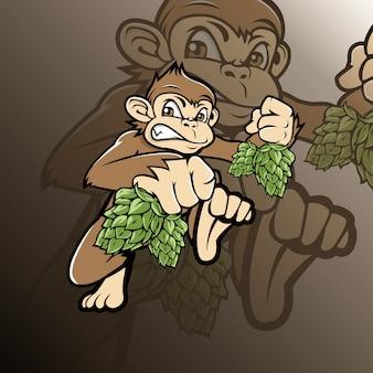 Pino con logo de mono