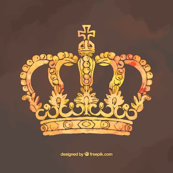 Pintado a mano la corona de oro