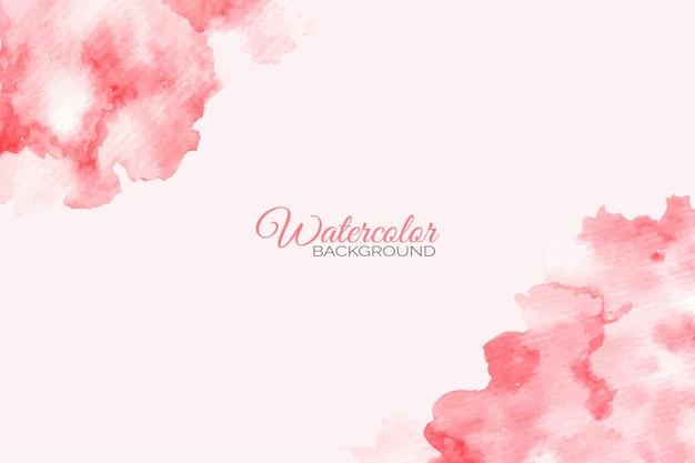 Pintado a mano de fondo acuarela abstracta rosa y rojo