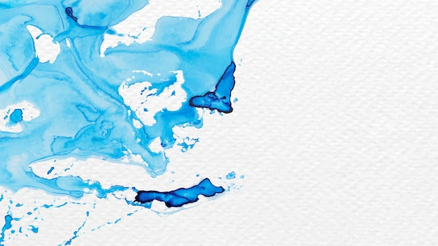 Pintura acuarela azul abstracta