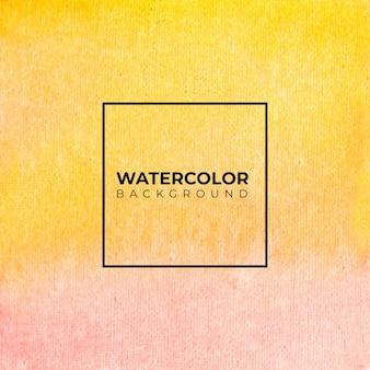 Pintura de acuarela naranja abstrack sobre textura de papel.