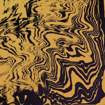 Pintura al agua color metal dorado suminagashi decoración abstracta dibujado a mano fondo oscuro
