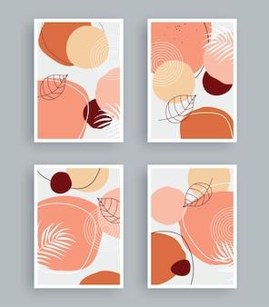 Pintura de arte abstracto con fondo de colores pastel