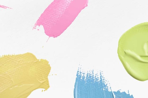 Pintura en colores pastel con textura de fondo de vector de borde abstracto arte experimental de bricolaje