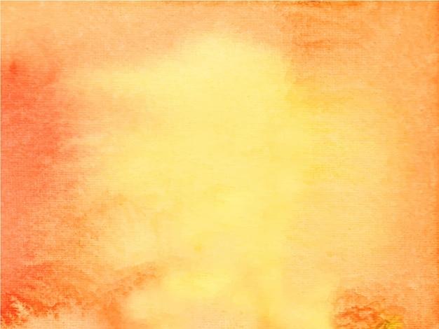 Pintura de la mano de acuarela abstracta naranja.