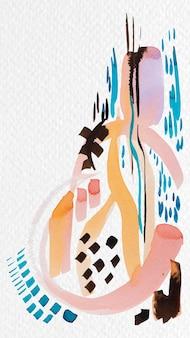 Pintura de pincel de acuarela mixta