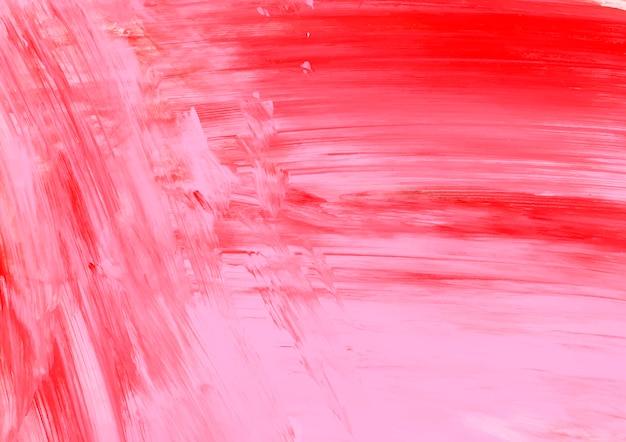 Pintura rosa y roja
