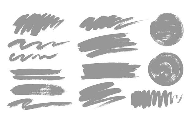 Pintura, textura de trazo de pincel. conjunto de grunge.