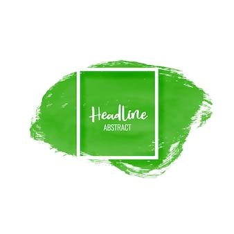 Pintura verde accidente cerebrovascular mancha fondo