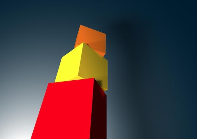 Pirámide de cubo 3d