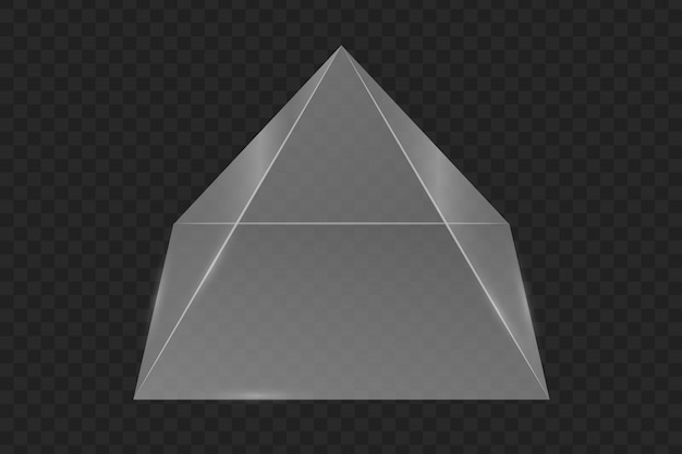 Pirámide de prisma de vidrio.