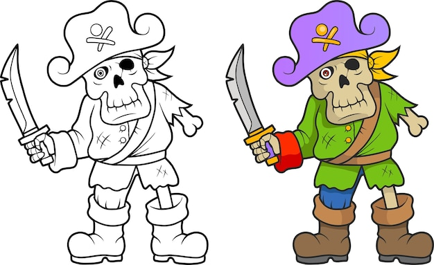 Pirata esqueleto