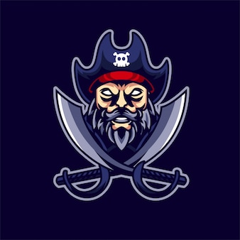 Pirate esport gaming logo